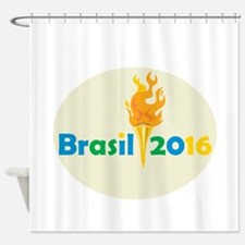Brasil 2016 Summer Games Flaming Torch Shower Curt