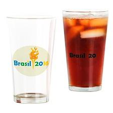Brasil 2016 Summer Games Flaming Torch Drinking Gl