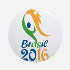 Brasil 2016 Flames Summer Games Ornament (Round)