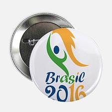 """Brasil 2016 Flames Summer Games 2.25"""" Button (10 p"""