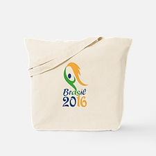 Brasil 2016 Flames Summer Games Tote Bag
