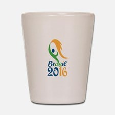 Brasil 2016 Flames Summer Games Shot Glass