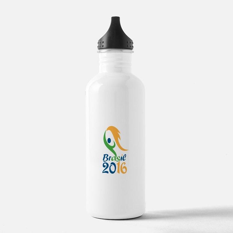 Brasil 2016 Flames Summer Games Water Bottle