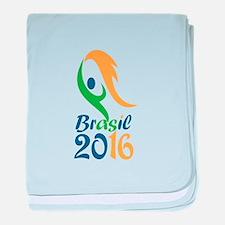 Brasil 2016 Flames Summer Games baby blanket