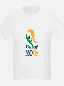 Brasil 2016 Flames Summer Games T-Shirt