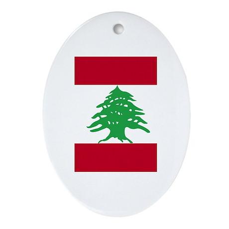 Flag Oval Ornament