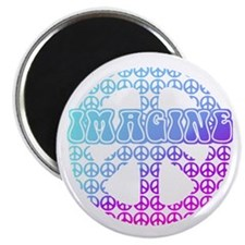 "Imagine Peace Signs 2.25"" Magnet (10 pack)"