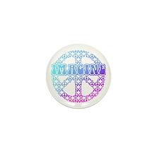 Imagine Peace Signs Mini Button (10 pack)