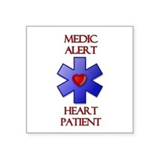 "Cute Medical alert Square Sticker 3"" x 3"""
