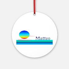 Matteo Ornament (Round)