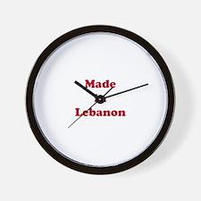 Made in Lebanon Wall Clock