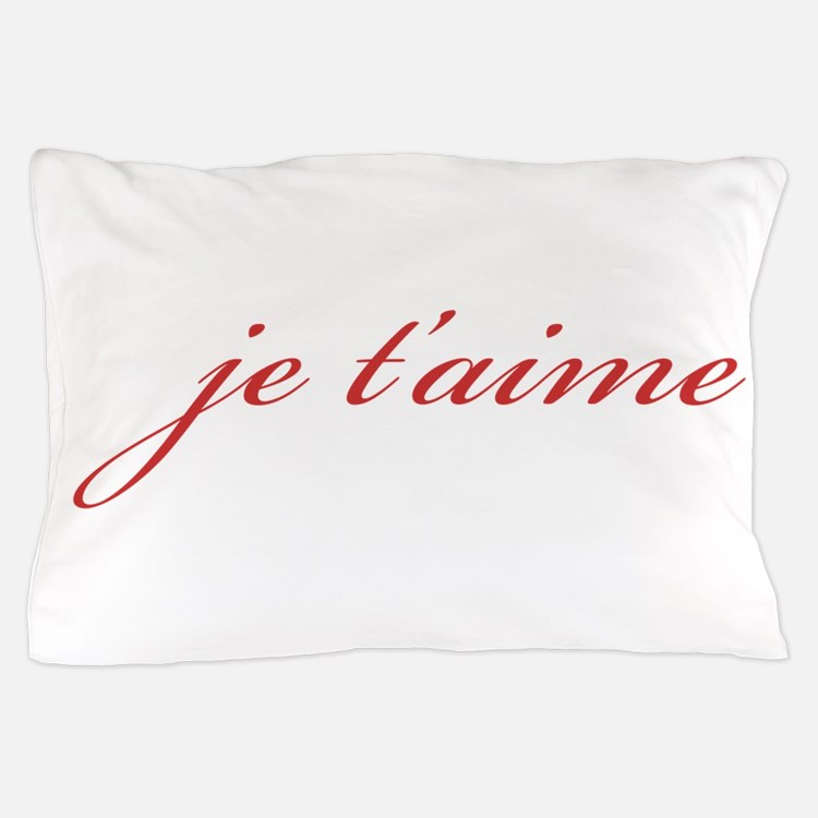 Je T-aime Pillow Case