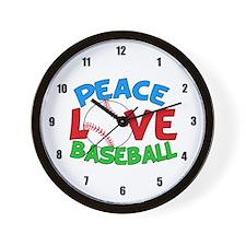 Baseball Love Wall Clock