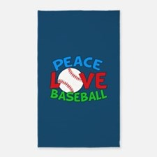 Baseball Love Area Rug