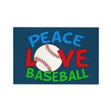 Baseball Love Rectangle Magnet