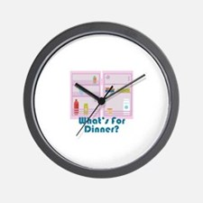 Whats For Dinner? Wall Clock