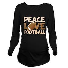 Football Love Long Sleeve Maternity T-Shirt