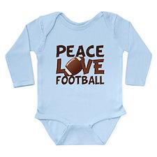 Football Love Long Sleeve Infant Bodysuit