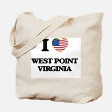 I love West Point Virginia Tote Bag