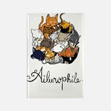 Ailurophile; Cat lover Rectangle Magnet