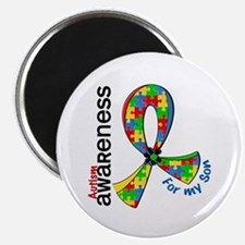 """For My Son Autism 2.25"""" Magnet (10 pack)"""