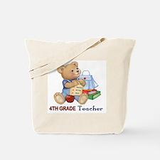 School Days Teddy - 4th Grade Tote Bag