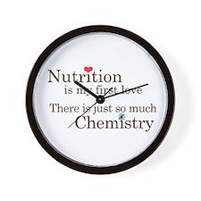 Nutrition Chemistry Wall Clock