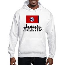 Memphis Tennessee Flag Skyline Hoodie