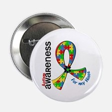 """For My Niece Autism 2.25"""" Button (10 pack)"""