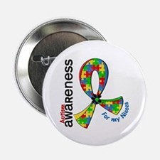 """For My Nieces Autism 2.25"""" Button (10 pack)"""