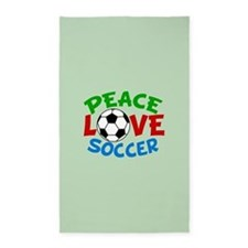 Love Soccer Area Rug