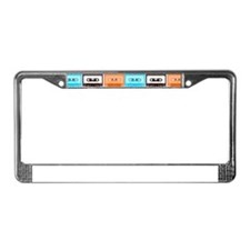 cassettes License Plate Frame