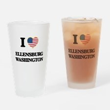 I love Ellensburg Washington Drinking Glass