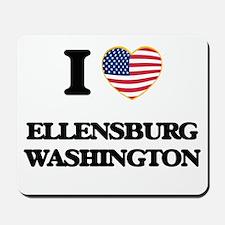 I love Ellensburg Washington Mousepad