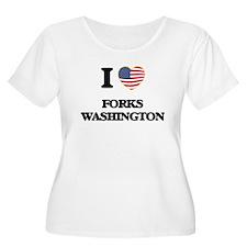 I love Forks Washington Plus Size T-Shirt