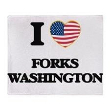 I love Forks Washington Throw Blanket