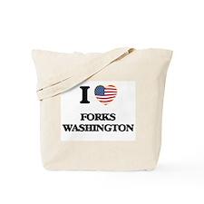 I love Forks Washington Tote Bag