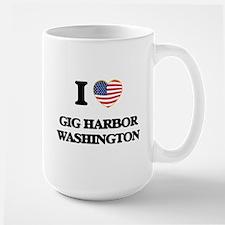 I love Gig Harbor Washington Mugs