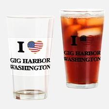 I love Gig Harbor Washington Drinking Glass