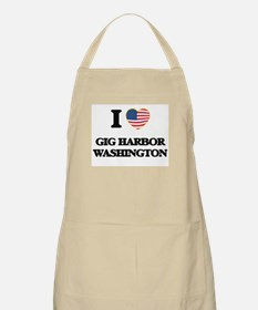 I love Gig Harbor Washington Apron
