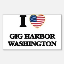 I love Gig Harbor Washington Decal