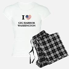 I love Gig Harbor Washingto Pajamas