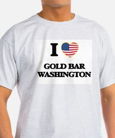 I love Gold Bar Washington T-Shirt
