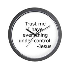 Trust Me... Jesus Wall Clock