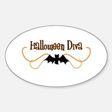 Halloween Diva Oval Decal