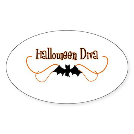 Halloween Diva Oval Sticker
