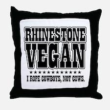 Rhinestone Vegan (rope boys) Throw Pillow