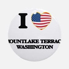 I love Mountlake Terrace Washingt Ornament (Round)