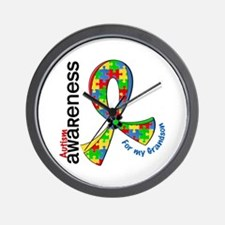 For My Grandson Autism Wall Clock