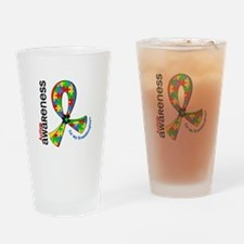 For My Granddaughters Autism Drinking Glass